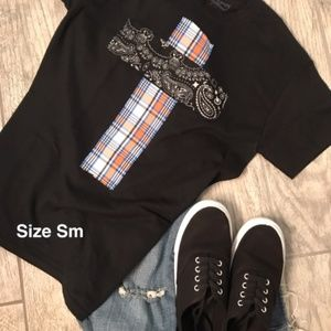 Tops - Rugged Cross Distressed Recycled Tee